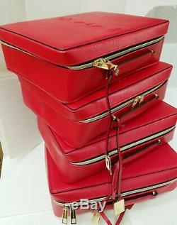 Estee Lauder Lot of 1/2/5/50 Red Makeup Cosmetic Bag Train Trave Case Box