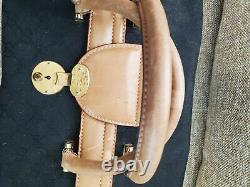 Fair Condition Black Vintage Gucci Train Case Toiletry Makeup Bag
