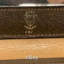 GUCCI Early 1970's Vintage Doctor Cosmetic Train Case Handbag