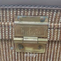 Hartmann Luggage Tweed Vintage Cosmetic Carry on Train Case Toiletries Suitcase