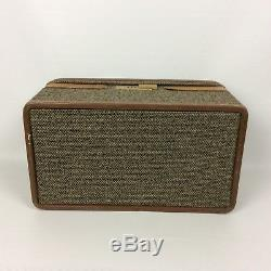 Hartmann Makeup Train Case Classic Walnut Tweed Belting Leather Carry On