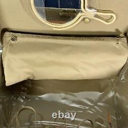 Hartmann Tweed & Leather Train Case Cosmetics Bag With Lucite Hand Mirror EUC