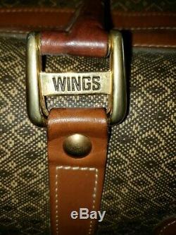Hartmann Wings Diamond Jacquard Train Case / Cosmetic Case
