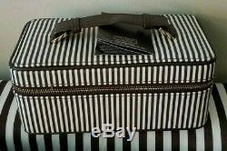 Henri Bendel 712 Train Case Mini Centennial Stripes Leather New With Tag