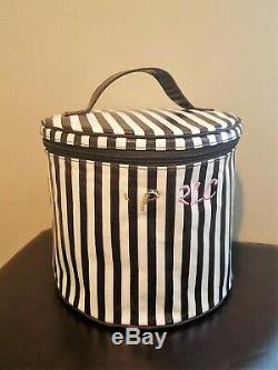 Henri Bendel Brown & White Train Case New With Defect