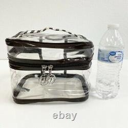 Henri Bendel Large Train Case Makeup Cosmetic Bag