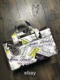 Henri Bendel Logo Train Case Makeup Accessories Large Stripe Bag