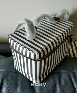 Henri Bendel West 57 Th Centennial Stripes Train Case Cosmetic Bag New No Tag