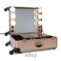 Impressions Vanity SLAYCASE PRO VANITY TRAVEL TRAIN CASE IN PINK MERMAID SHIMME