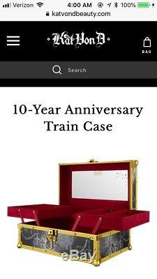 In Hand Kat Von D 10 Year Anniversary Train Case Makeup Kvd Sold Out
