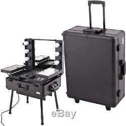 JUST-C6010PPAB-Craft Accents C6010 Professional Rolling Studio Makeup Case, All