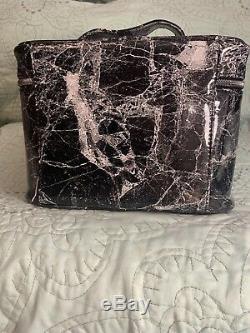 Jeffree Star Cosmetics Cremated Black Marble Travel Traincase Bag In Hand