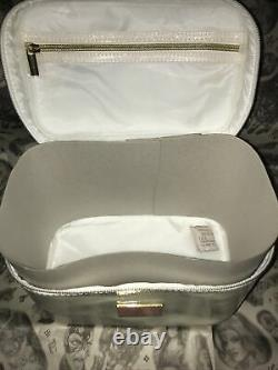 Jeffree Star White Glitter Cosmetics Bag Train Case Rare Sold Out Color NIP