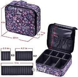 Joligrace Makeup Bag Cosmetic Case Vanity Travel Beauty Box Make Up Train Case