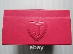 Juicy Couture Travel Train Case Cosmetic Jewelry Dark Pink Leather Scottie Dog
