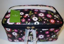 Kate Spade Cobblestone Park Large Colin Fleur Print Train Case Cosmetic Case Set