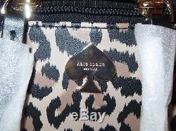Kate Spade Cobblestone Park Large Colin Leopard Train Case Cosmetic Case Set