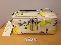 new concept f5965 a210f Kate Spade Limoncello Bouquet Large Colin Train Case Makeup Bag ...
