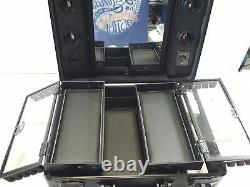 Kemier Makeup Train Case Cosmetic Organizer Box Makeup Case (Black)
