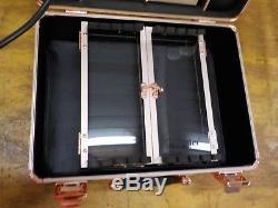 Kemier Makeup Train Case Cosmetic Organizer Box Makeup Case with Lights