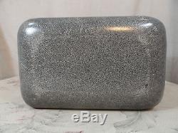 Koch of California Vintage Fiberglass Suitcase Train Case Cosmetic Makeup Grey