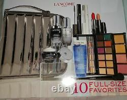 Lancome BEAUTY BOX 10 Full Size Products MAKEUP +TRAIN CASE 2020 NEW NIB! Gift