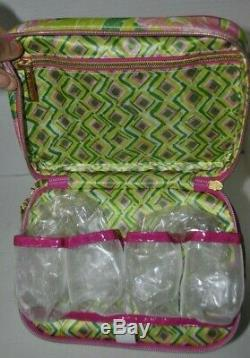 Lilly Pulitzer for Target Double Zip Cosmetic Train Case Travel Fan Dance Print