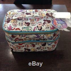 Little Mermaid 30th Ariel Sisters Makeup Train Case Vanity Bag 2 Layer New