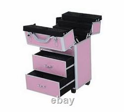 Lockable Cosmetic Makeup Train Case