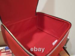 Lot 10 Estee Lauder Blockbuster TRAIN CASE ONLY Cosmetic BAG RED zipper handle