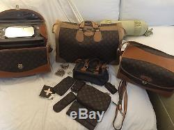 Louis Vuitton French Company Vintage Large Makeup Travel Train Case Strap WithKeys