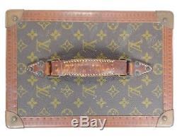 c6898780e583 Louis Vuitton Hard Train Case Vintage Cosmetic Trunk Box Toiletry Vanity  Bag 739