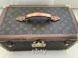 Louis Vuitton Large Vintage Vanity Train Case Makeup Cosmetic Chest 1980's