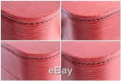 Louis Vuitton Red Epi Leather Train Case Cosmetic Bag 8lr0705