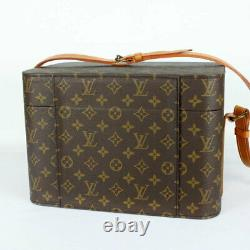 Louis Vuitton Train Case Cosmetic M23570 Monogram Box Previously Owned No. 9398