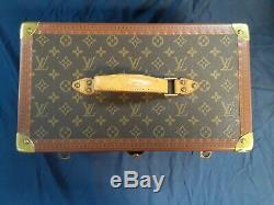 Louis Vuitton Vintage Monogram Cosmetic Travel Train Case