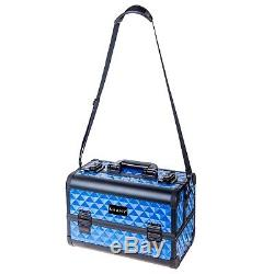 Luxury Divine Blue Fantasy Collection Makeup Artists Cosmetics Train Case SHANY