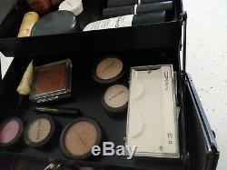 MAC Makeup Artist Vintage Pro Black Metal Train Case RARE withLoads of MAC Makeup