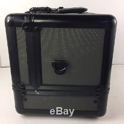 MAC Makeup Pro Train Case Retire Black Vintage Authentic Cosmetic Box NO STRAP