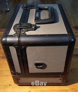 MAC Makeup Retired Pro Train Case, Black, Vintage, Authentic With Strap
