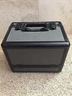 MAC Makeup Retired Pro Train Case, Black, Vintage, Authentic With Strap And Keys