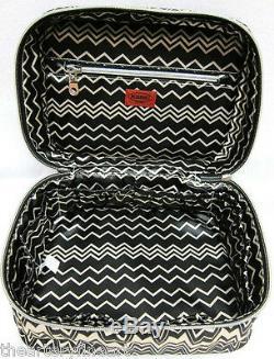 MISSONI x Target'Famiglia (Black & White Zig Zag)' Train Case Make-up Tote NEW