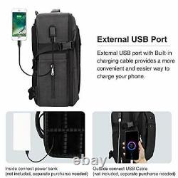 Makeup Backpack, Professional Makeup Case Extra Travel Train Case Large black