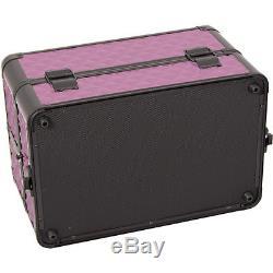 Makeup Case Cosmetic Organizer PURPLE BLACK DIAMOND Free Shipping Professional