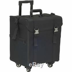 Makeup Case Storage Bag Drawers Holder & Clear Bags Black Soft Sided 4 Wheels
