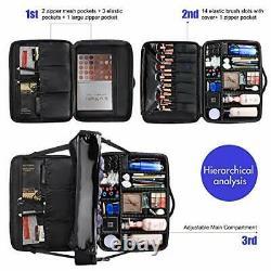 Makeup Case Travel Makeup Train Case Professional Makeup Extra Large Black