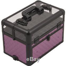Makeup Storage Box Train Make Up Cosmetic Luggage Organizer Travel Beauty Case