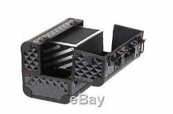 Makeup Train Case Cosmetic Organizer Storage Hard Shell Box Expandable Large NEW