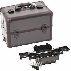 Makeup Train Case Professional Aluminum Storage Organizer Cosmetic Box Sunrise