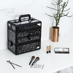 Makeup Train Case Professional Nail Box Portable Accessory Storage with Polish S